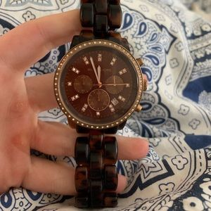 MK tortoise and rose gold Watch